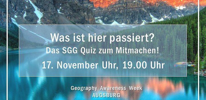 Geography Awareness Week – Das SGG Quiz zum Mitmachen!
